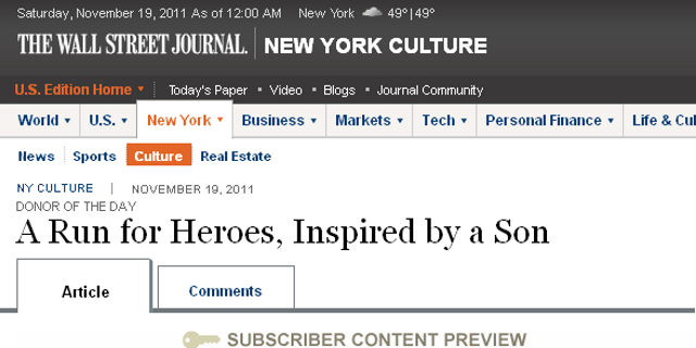 A Run For Heroes, Inspired By A Son