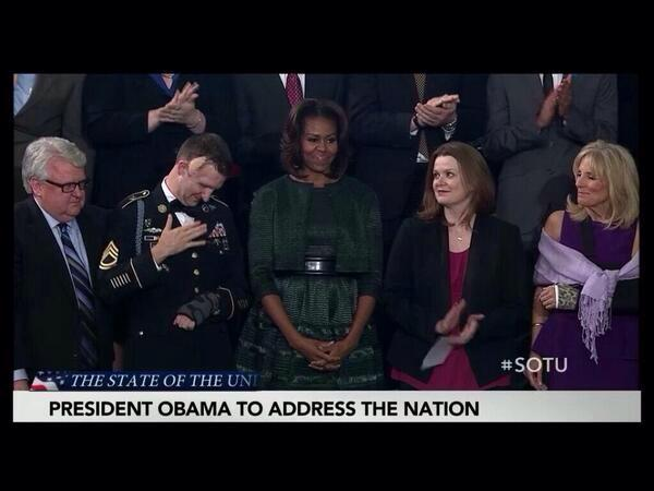 Wounded Army Ranger SFC Cory Remsburg Honored During State of the Union Address