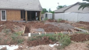 new guest house foundation being planned