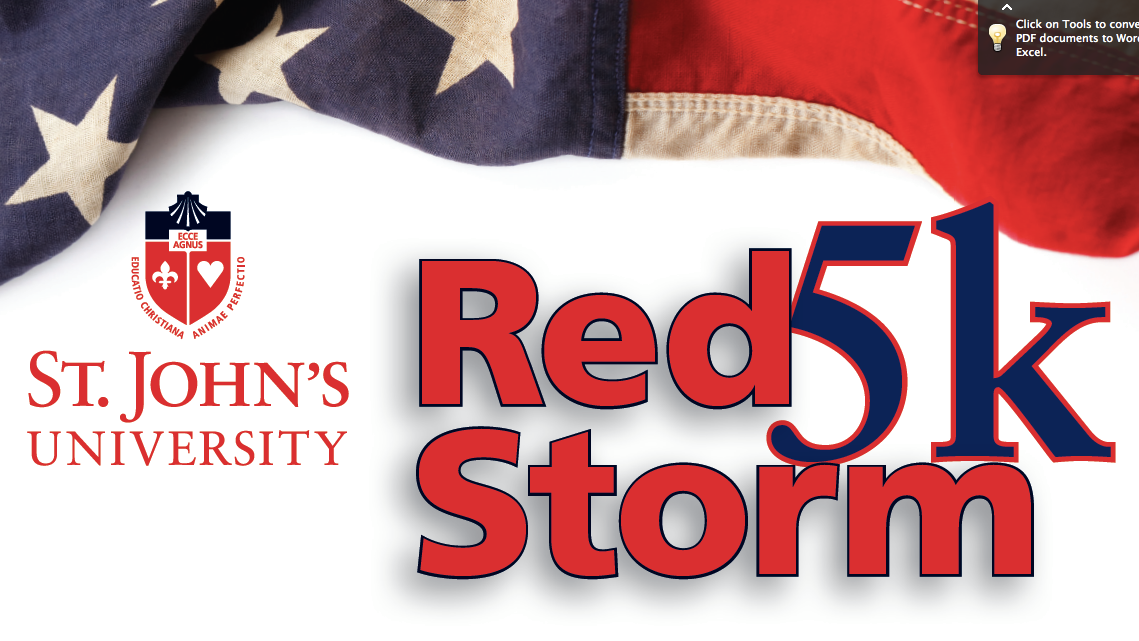 St. John's Red Storm 5k Run/Walk Fundraiser for Army Ranger Lead The Way Fund